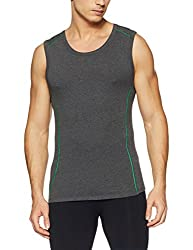 Jack & Jones Mens Solid Vest (12131045_Castlerock_M)