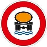 Verkehrszeichen VZ269, Verbot für Fahrzeuge mit wassergefährdender Ladung, Alu, RA1, Ø 42cm...