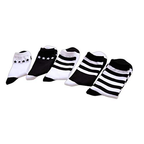 Kongnijiwa Schmuck-Serie Frauen Mädchen Mid Rohr Cotton Striped Serie Söckchen für Frühling Winter (Socken Gestreiften Rohr)