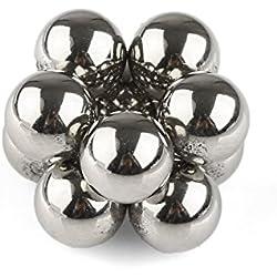 OMO 10piezas x 7mm Bolas Magnéticas de Neodimio N42 Juego de Imanes para Niños fomentar la creatividad imaginación,Adultos anti-estrés pasar el tiempo - con Caja Metal,cantidad y diámetro diferentes