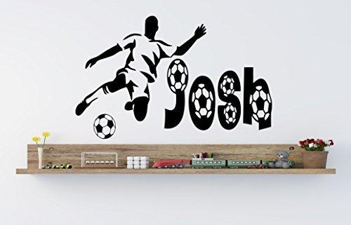personalisierbar Fußball Soccer Vinyl Wand Kunst Aufkleber-* jedes Name *-kids-16* * UK Verkäufer * * - Med - 60 x 40 cm Verkäufer Nachrichten