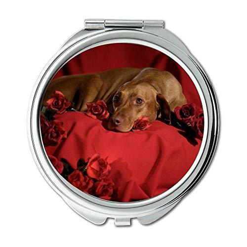 Yanteng Spiegel, Kleiner Spiegel, französische Bulldogge Hündchen Cute Pet, Taschenspiegel, 1 X 2 X Vergrößerung