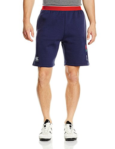 CANTERBURY Herren England Rugby Fleece Shorts, blau (Rugby Fitness Shorts England)