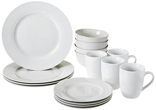 AmazonBasics Dinnerware Set, Ser...