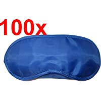 Blaue Schlafbrillen / Schlafmasken, angenehme Seidencharmeuse (Satin-ähnlich), 19 cm x 8,5 cm, (100) preisvergleich bei billige-tabletten.eu