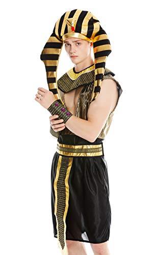 dressmeup Dress ME UP - M-0028 Kostüm Herren Männer Karneval Halloween Ramses Ägypter Pharao Gr. M/L (Mann Halloween-kostüm Polizist)