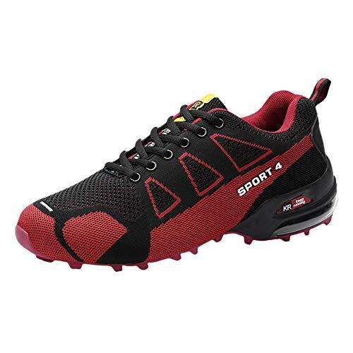 Holeider Schuhe Wanderschuhe Herren Sneaker Trekkingschuhe Bergschuhe Hikingschuhe Sicherheitsschuhe Arbeitsschuhe Leichtgewicht Atmungsaktiv Freizeitschuhe für Männer Mode