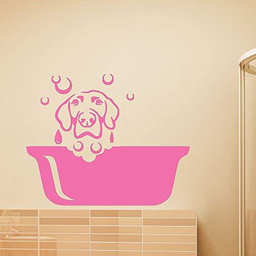 guijiumai Wandtattoo Puppy Cute Dog Vinyl Wandaufkleber Für Kinderzimmer Pet Salon Removable Decor Pflege Kunst Poster 5 70x85 cm -
