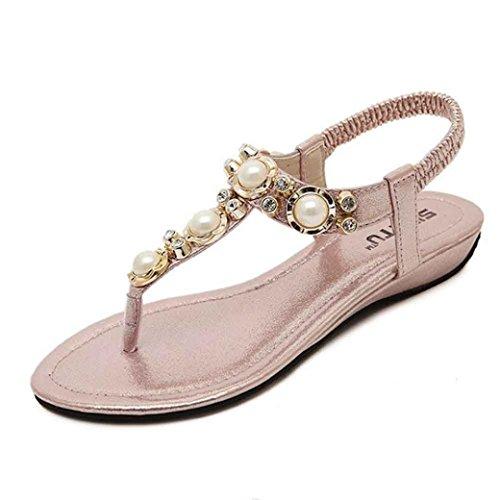 Amlaiworld 2016 Kristall Sandaletten Damen Sandalen Fashion Rosa