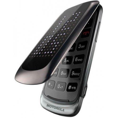 Motorola Gleam+ Klapphandy (6,1 cm (2,4 Zoll) TFT-Display, 2 Megapixel Kamera, USB 2.0) dunkel silber Motorazr V3