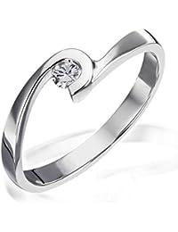 Goldmaid - Bague - Argent 925 - Diamant- T56 - Sd R6491S56