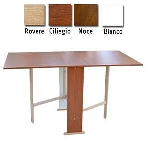 Tavolo in legno richiudibile pieghevole noce mod susanna 140x75x78 cm casa e cucina - Tavolo richiudibile ...