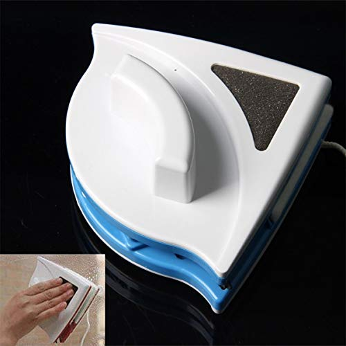 Limpiador de cepillos magnético para vidrios cristales y ventanas - Limpiador para dos caras, interior...