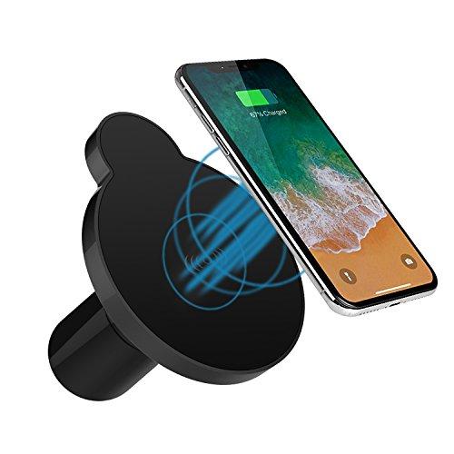 popwinds Wireless Car Ladegerät, magnetisch Schnell Qi Wireless Auto Ladegerät Dock, Mount Air Vent stehen für iPhone 8/8Plus/X/Galaxy Note S9/8/S8/S8Plus/S7/S7Edge S6/S6Edge