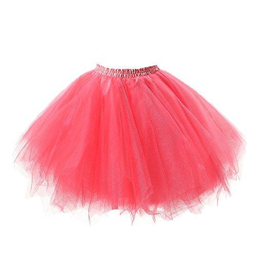 utu Unterkleid Rock Abschlussball Abend Gelegenheit Zubehör Wassermelonen (Kleinkind Weiße Ballett Schuhe)