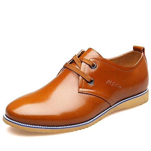 Homme Mode Loisirs Chaussures En Cuir Ballerines Chaussures Décontractées Chaussures De Travail Conduite Euro Taille 38-44 Marron