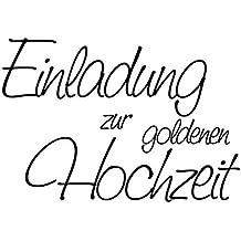 Elegant Knorr Prandell 1800004   Stempel   Einladung Zur Goldenen Hochzeit, 6 X 4.2  Cm