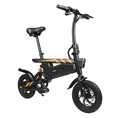 Kaimus E-Bike 16 Zoll Elektrofahrrad Faltbares Mountainbike, 36V 250W E-Faltrad E-MTB mit Große Kapazität Lithium, Mechanische Scheibenbremsen,Single Speed (Schwarz)