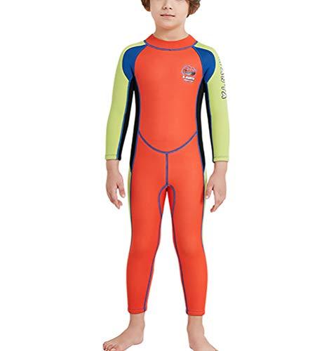 TYUE Jungen Langarm Badeanzüge 2,5 MM Neopren BadeanzugUV 50+ Sonnenschutz Rash Guard Einteiliges Schwimmen Kostüm für ()