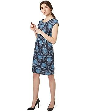 Tom Tailor für Frauen Dress gemustertes Kleid mit Taillenband