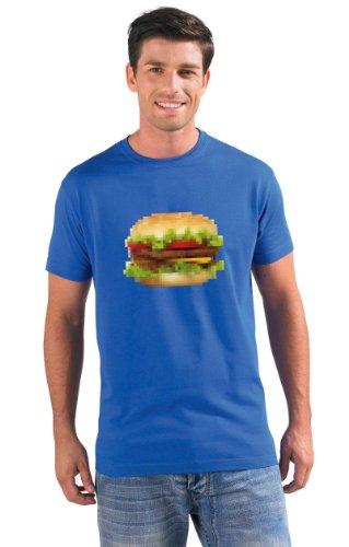 Hamburger modern style Food Porn T-Shirt #1 königsblau XXL