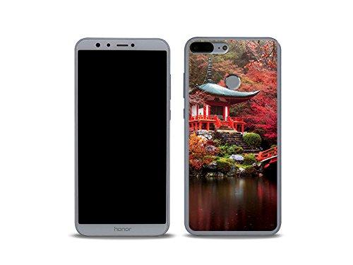 etuo Huawei Honor 9 Lite - Hülle Foto Case - Japanischer Garten - Handyhülle Schutzhülle Etui Case Cover Tasche für Handy