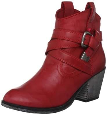 Rocket Dog Women's Satire Red Slick PU Ankle Western Boot 5 UK