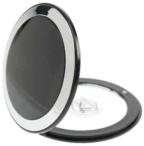 Fantasia Miroir de poche Grossissement x7 Plastique Noir/argenté