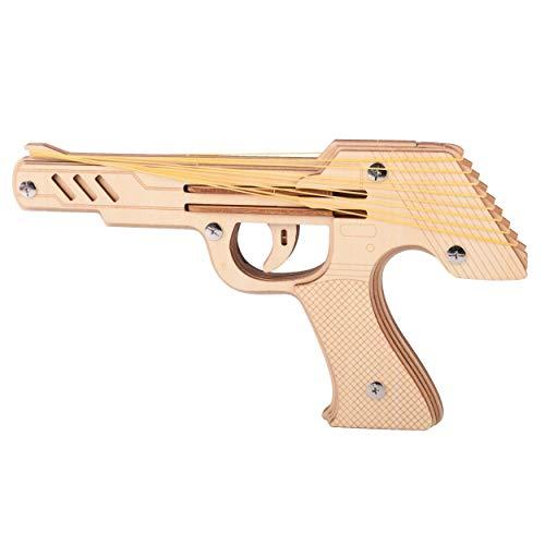 Puzzle in Legno 3D, DIY Modello Pistole Legno Kit Blocchi Costruzione Giocattolo di Invenzione Scientifica Giocattolo Cognitivo Sviluppo Logica Mano Cervello capacità per Bambini e Adulti Regalo