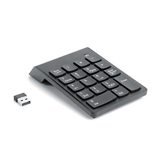 Numeric keypad AceFox 2,4 GHz USB Empfänger Wireless Nummernblock Tastatur Keypad Ziffernblock für Laptops PC Computer Schwarz