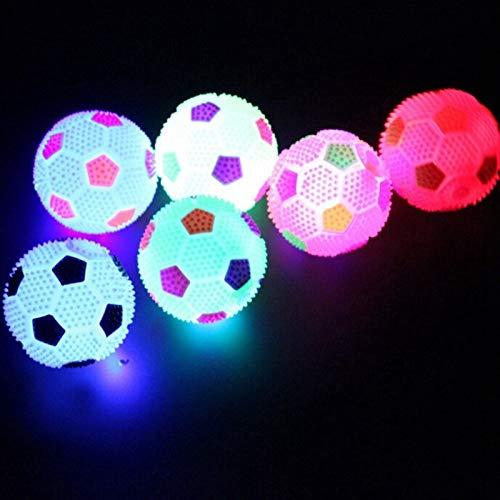 Zsqnl Luminous Flummi Nachtlicht Flash-Fußball-Vent-Kugel-Kind-Haustier-Spiel-Spielzeug Hund Katze Kind-Mädchen-Junge-Geschenk zsqnl (Color : Randomly) -