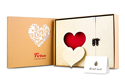 Firbon Álbum Libro de Recuerdos de la Vendimia para la boda, Compromiso, Baby Shower, Cumpleaños (Amarillo)