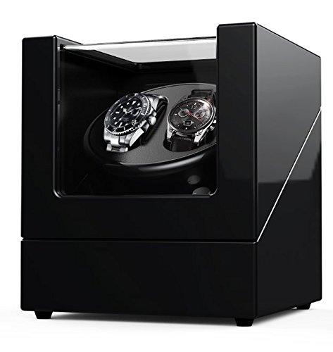 Cargador para relojes automáticos Rolex, estuche de madera + acabado piano + motor japonés