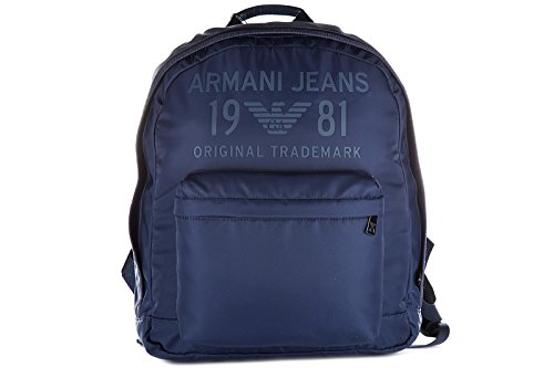 Armani Jeans Nylon Rucksack Herren Tasche Laptop Schulrucksack blu