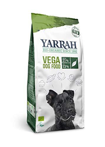YARRAH Cibo Secco Biologico Vegano per Cani - Gustose Crocchette Vegetariane/Vegane con Soia, Oilio di Cocco, Lupini Bianchi e Baobab - Ideale per Tutti i Cani Adulti - 10kg