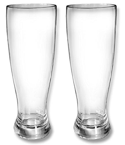Global Wombat Drinkware Set 2X Weißbiergläser Weizenglas 500ml Polycarbonat Kunststoff bruchsicher Kunststoff Drinkware