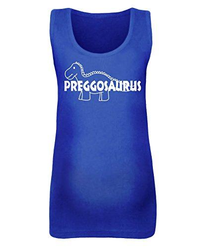 Femmes de preggosaurus de maternité pour femme–Disponible en différentes couleurs - Royal Blue / White Print