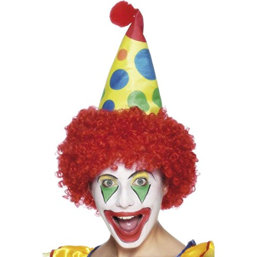 Clownhut mit Haar Clownsmütze Clown Narren Hut Narrenkappe Mütze Kostüm Harlekin...