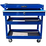 US PRO TOOLS Tool cart Tool Trolley Workstation Tool Box Cabinet Blue with Lockable Ball Bearing Drawer