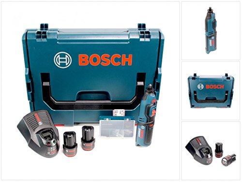 Preisvergleich Produktbild Bosch GRO 10, 8 V-Li Akku Rotationswerkzeug in L-Boxx + 2 x GBA 10, 8 V 2, 5 Ah Akku + AL 1130 CV Schnelllader