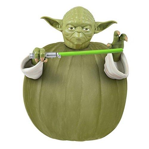 ürbis Dekorations Set mit Figur Steck Teile Star Wars Yoda (Kinder Kürbis Dekoration Kit)