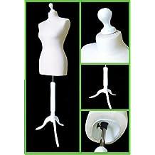 The Shopfitting Shop Buste couture femme sur trépied en bois Blanc Taille 42