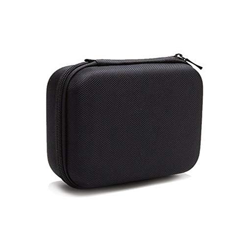 Yangmg Eva Hard Box Case Cover Shockproof Schutz für Drahtlose Bluetooth Lautsprecher und Netzteil mit Mesh Innentasche Reißverschluss (Color : Schwarz, Size : S) (Kleidungsstück Kompakte Tasche)