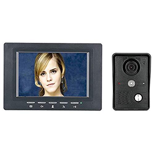 7 Zoll Video Door Phone Doorbell Intercom Kit 1-Kamera 1-Monitor Night Vision mit IR-CUT CMOS 700TV Lines Cmos Video Door Phone