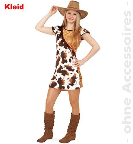 Cowgirl Kostüm Sally 164 Mädchen Kleid Kinder Fasching