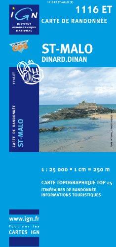 St-Malo : 1/25 000 par IGN