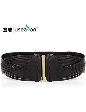 SILIU*Retro-cabeza entoldados tejiendo la Sra. cinturilla ancha ancha elástica fajas cosmopolitian cinturón de...