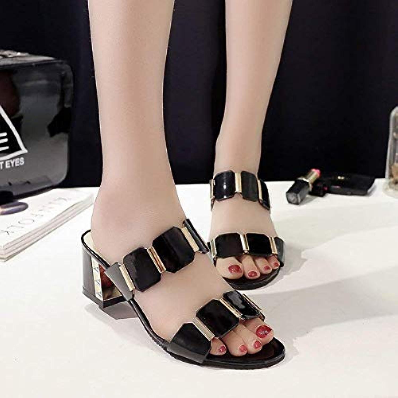 Oudan Sandali Sandali Donna Sandali Pantofole Pantofole Pantofole Slip-On Moda Scarpe Slippers Strap (Coloreee   Nero, Dimensione  ... | Trendy  55dbc1