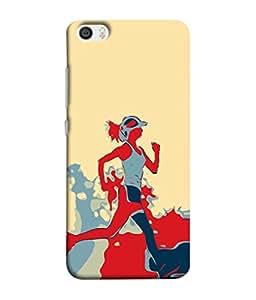 Fuson Designer Back Case Cover for Xiaomi Mi 5 :: Redmi Mi5 (Girl Artist Marathon Runner Health Cap Painted)