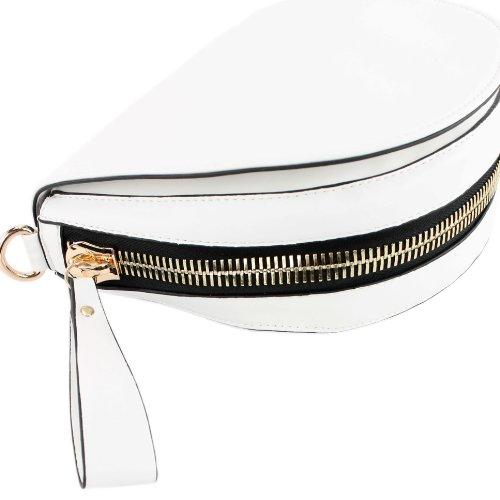 Handtasche Damentasche Umhängetasche Messenger Kunstledertasche Lederimitat LK9917 Weiß